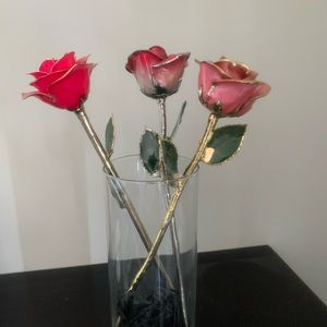 Gold and Platinum Plated Roses